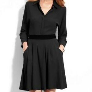 Theory clemira intellect long sleeve black dress